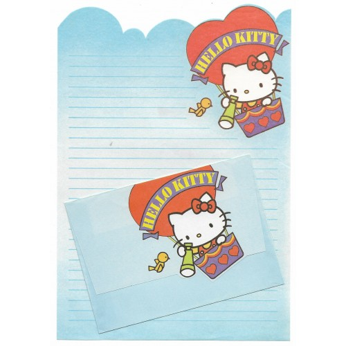 Conjunto de Papel de Carta Antigo Hello Kitty (AZUL)