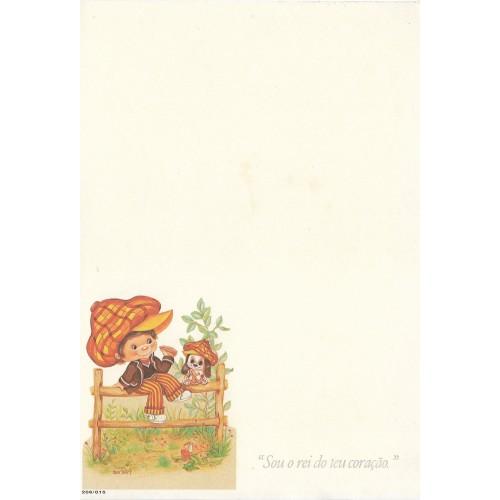 Papel de Carta Antigo Menininhas 35-8