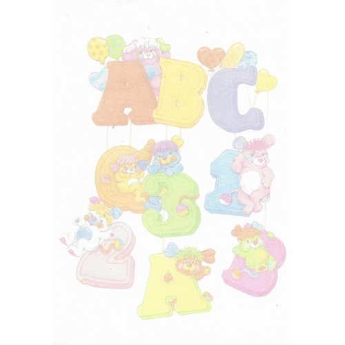 Papel de Carta AVULSO Antigo G Popples ABC