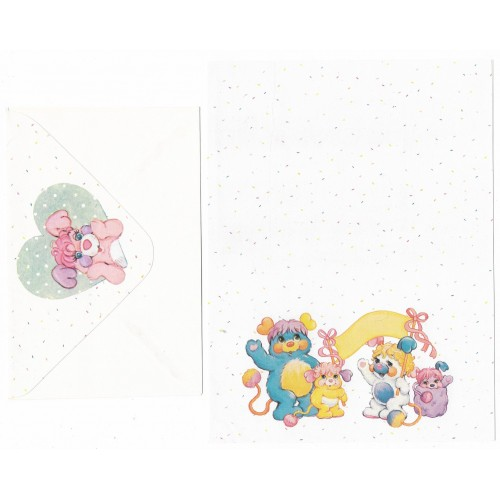 Conjunto de Papel de Carta Antigo Popples