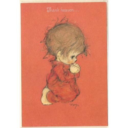 Cartão Antigo Importado Mary Hamilton 03 Heaven - Hallmark