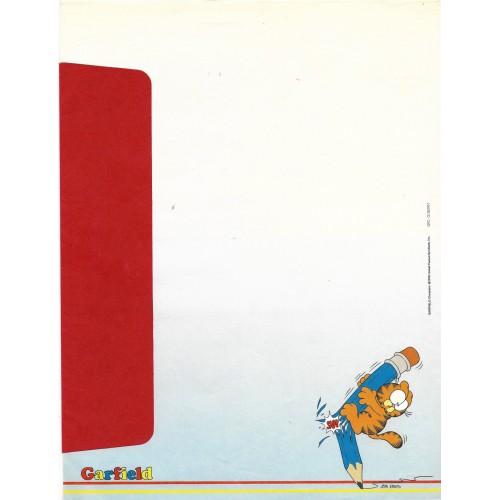 Anos 80. Conjunto de Papel de Carta Garfield N.50010-1