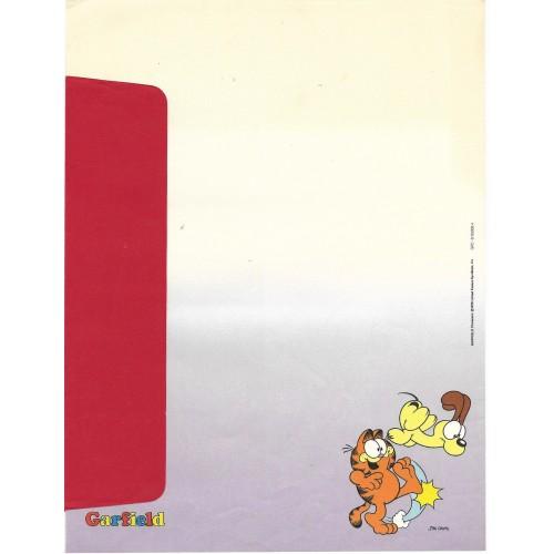 Anos 80. Conjunto de Papel de Carta Garfield N.50006-4