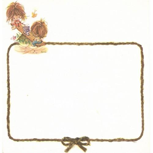 Papel de Carta Antigo Elena Urchins - Gangorra