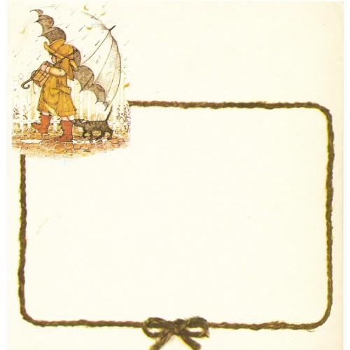 Papel de Carta Antigo Holly Hobby Brown