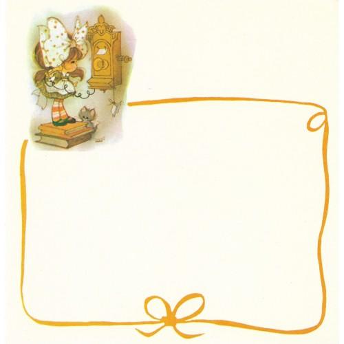 Papel de Carta Antigo Barbi Sargent RED2