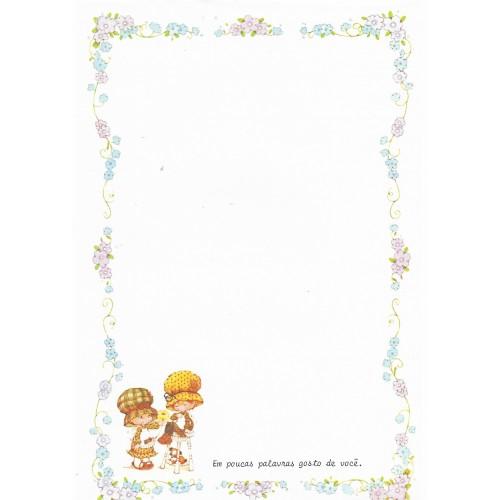 Papel de Carta Antigo Bonnie Bonnets CAZ1 COM FRASE