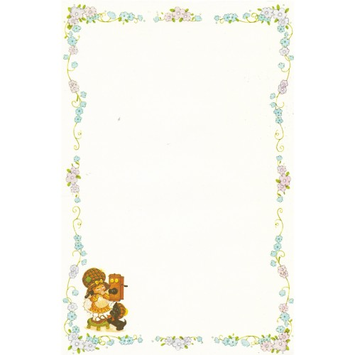 Papel de Carta Antigo Bonnie Bonnets CAZ3