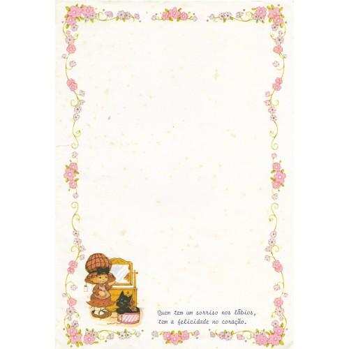 Papel de Carta Antigo Bonnie Bonnets CRS1 COM FRASE