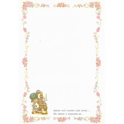 Papel de Carta Antigo Bonnie Bonnets CRS4 COM FRASE