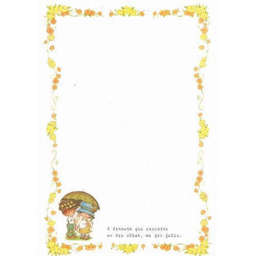 Papel de Carta Antigo Bonnie Bonnets CAM2 COM FRASE