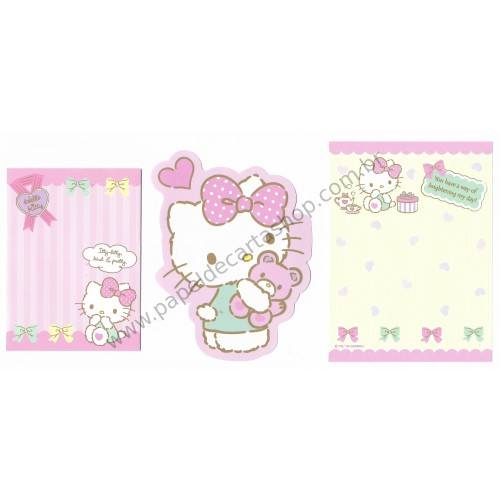 Ano 2016. Conjunto de Mini Papel de Carta Hello Kitty Sanrio