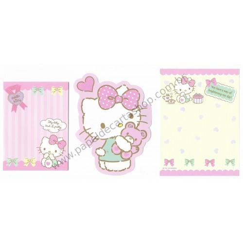Ano 2016. Conjunto de Mini Papel de Carta Hello Kitty Sanrio