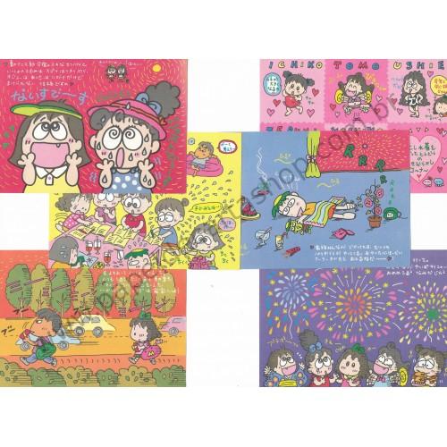 Ano 1993. Conjunto de 6 NOTAS RuRuRuGakuen - Sanrio