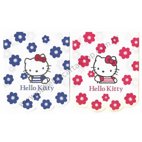 Ano 1992. Conjunto de Notinhas MEMOS Hello Kitty - Sanrio
