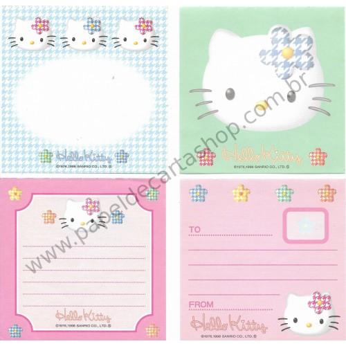 Ano 1998. Kit 4 notas Hello Kitty - Sanrio