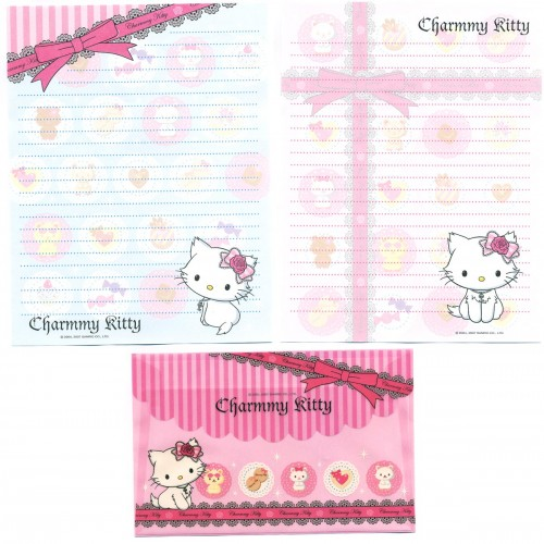Ano 2007. Conjunto de Papel de Carta Charmmy Kitty Dupla RAZ Sanrio