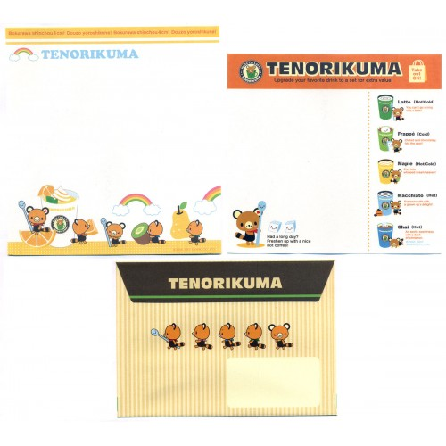 Ano 2007. Conjunto de Papel de Carta Tenorikuma FIVE 1 Sanrio