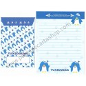 Ano 2012. Conjunto de Papel de Carta Tuxedosam Roly-Poly Penguin Sanrio