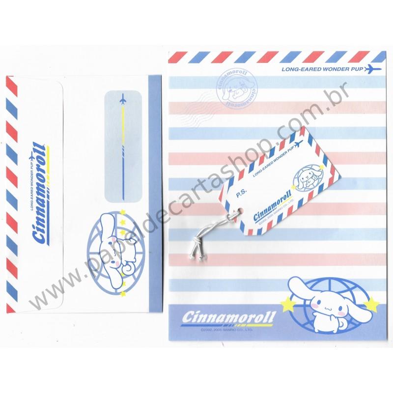 Ano 2005. Conjunto de Papel de Carta Cinnamoroll Long-Eared Wonder Pup Sanrio
