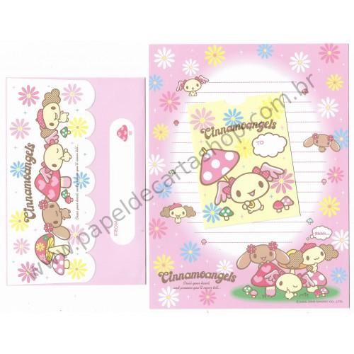 Ano 2006. Conjunto de Papel de Carta Cinnamoangels Sanrio