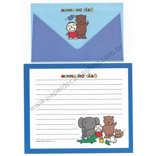 Ano 1995. Conjunto de Papel de Carta Minna no Tabo CAZ Sanrio