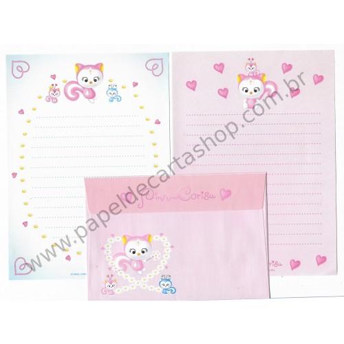 Ano 1999. Conjunto de Papel de Carta Pink no Corisu Antigo (Vintage) Sanrio