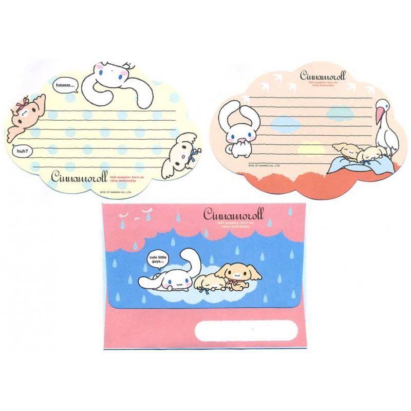 Ano 2007. Conjunto de Papel de Carta Cinnamoroll Rainy Wednesday Sanrio