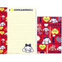 Ano 2011. Conjunto de Papel de Carta Cinnamoroll RED2 Sanrio