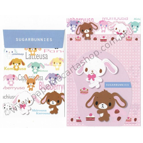 Ano 2006. Conjunto de Papel de Carta Sugarbunnies ALL TRIO Sanrio