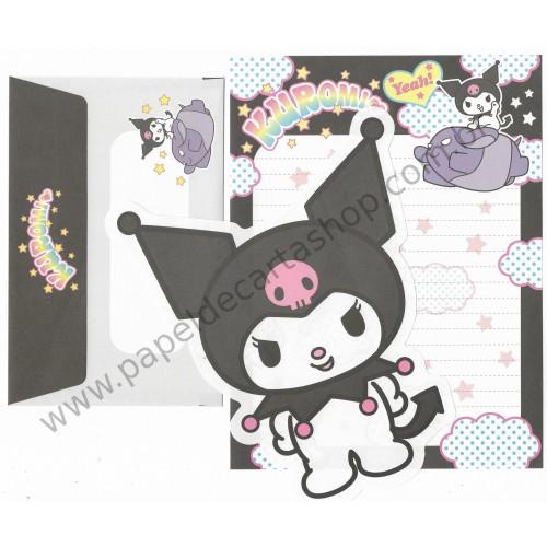 Ano 2005. Conjunto de Papel de Carta Kuromi Halloween PRIMEIRO Sanrio