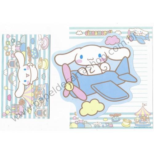 Ano 2006. Conjunto de Papel de Carta Cinnamoroll Park Sanrio