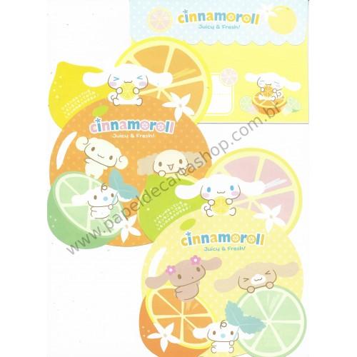 Ano 2009. Conjunto de Papel de Carta Cinnamoroll Juicy & Fresh Sanrio