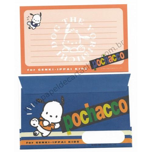 Ano 1996. Conjunto de Papel de Carta Pochacco GIKP Antigo (Vintage) Sanrio