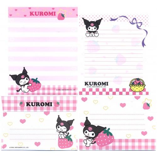 Ano 2009. Conjunto de Papel de Carta Kuromi DUO1 Sanrio