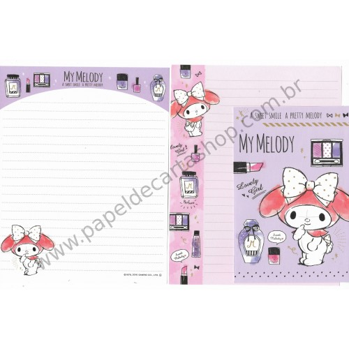 Ano 2016. Kit 2 Conjuntos de Papel de Carta My Melody Pretty Sanrio