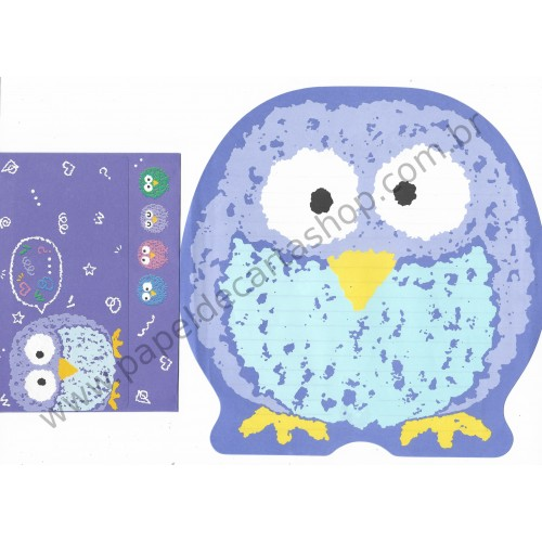 Ano xxxx. Conjunto de Papel de Carta OWL Antigo (Vintage) Sanrio