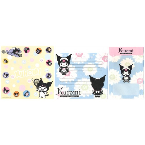 Ano 2008. Conjunto de Papel de Carta Kuromi FIVE1 Sanrio