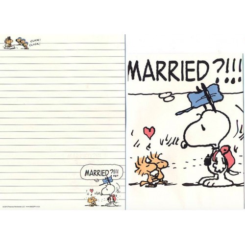 Conjunto de Papel de Carta Married? - Peanuts Japão 2015