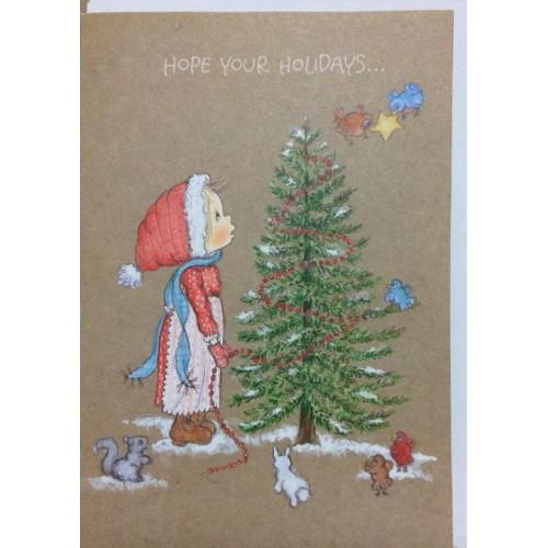 Ano 1976. Cartão ANTIGO IMPORTADO Betsey Clark - Holidays Hallmark