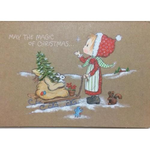 Ano 1981. Cartão ANTIGO IMPORTADO Betsey Clark Magic Hallmark