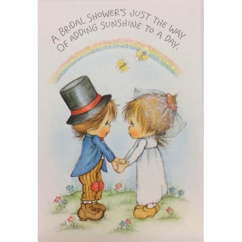 Ano 1981. Cartão ANTIGO Importado Betsey Clark Bridal Shower Hallmark