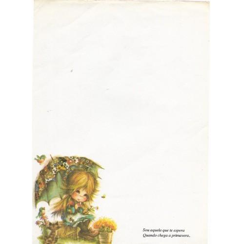 Papel de Carta Antigo Coleção Polly Patches 1