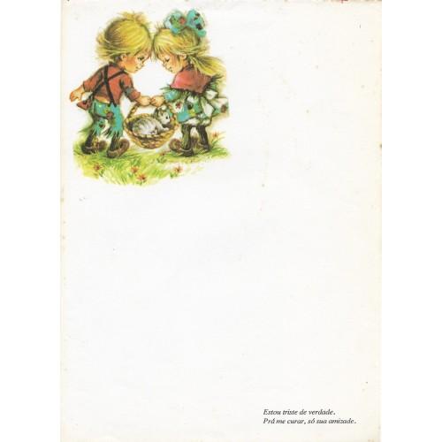 Papel de Carta Antigo Coleção Polly Patches 3