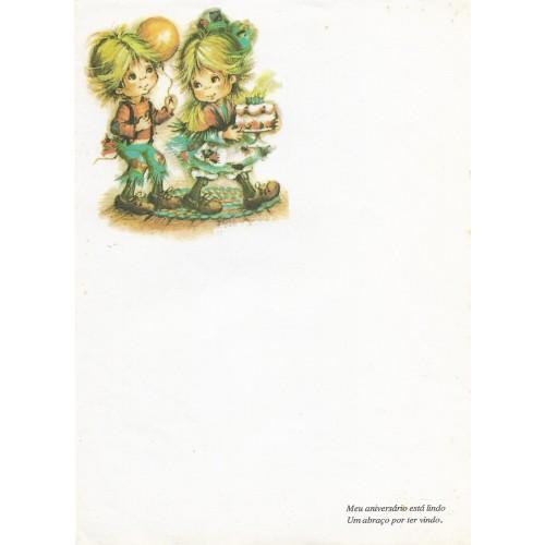 Papel de Carta Antigo Coleção Polly Patches 4