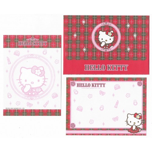 Ano 2004. Conjunto de Papel de Carta Hello Kitty Pequeno CXZ Sanrio