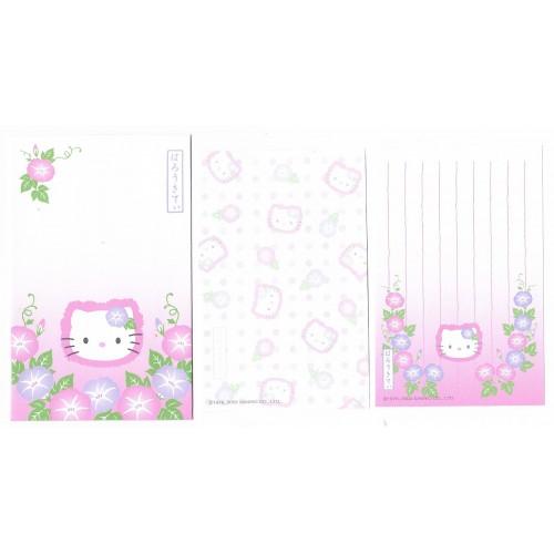 Ano 2002. Conjunto de 2 Mini Papéis de Carta com Envelope Regional Kitty