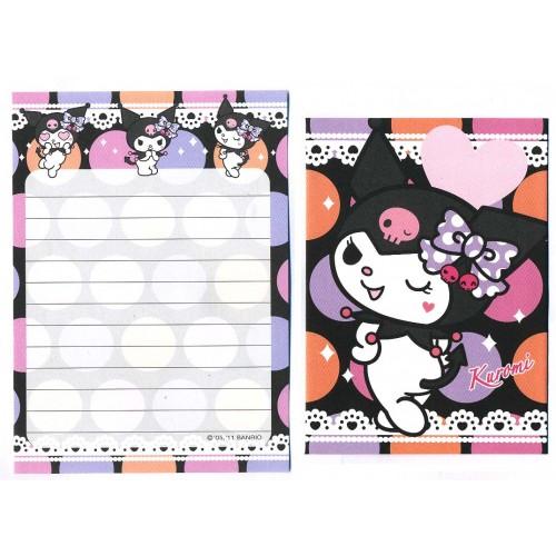 Ano 2011. Conjunto de Mini-Papel de Carta KUROMI 1 - Sanrio