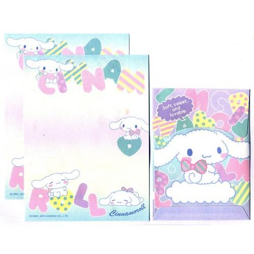 Ano 2014. Conjunto de Mini-Papel de Carta Cinnamoroll Lovable - Sanrio
