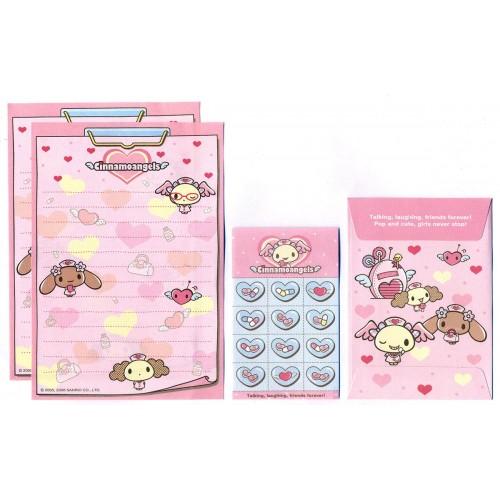 Ano 2006. Conjunto de Mini-Papel de Carta Cinnamoangels - Sanrio